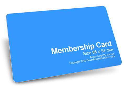 member card mockup action script cover actions premium