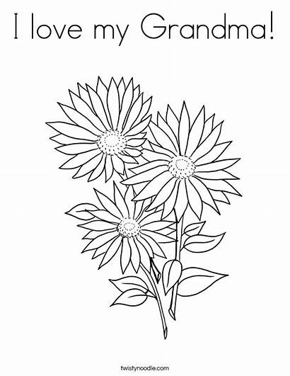 Coloring Pages Flowers Grandma Daisy Garden Three