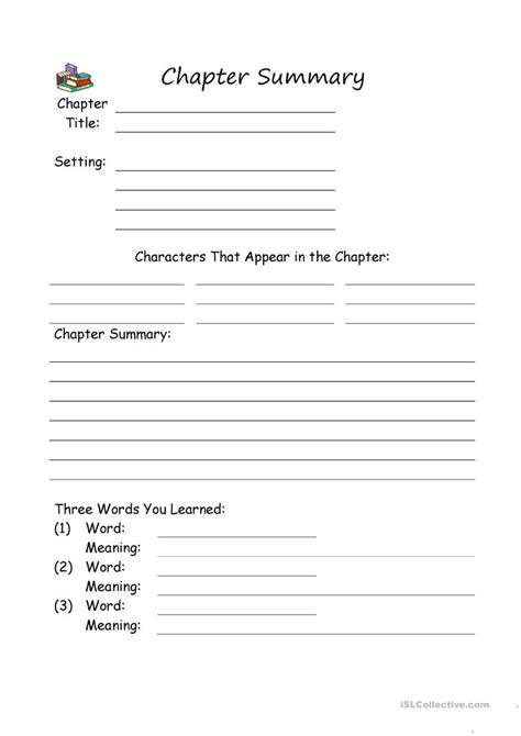 chapter summary worksheet free esl printable worksheets made by teachers