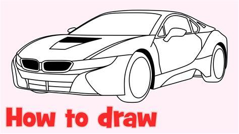 koenigsegg agera logo how to draw a car bmw i8 step by step easy youtube