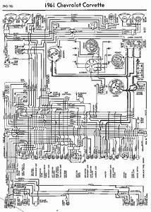 Wiring Diagram For 1961 Chevrolet Corvette  60286