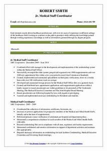 sample pdf resume medical staff coordinator resume samples qwikresume