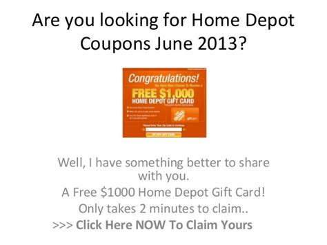 home depot coupons june 2013