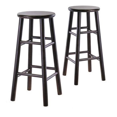 30 5 inch bevel seat espresso bar stools set of two