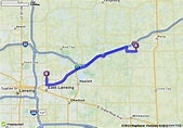 Driving Directions from 12744 Renee Dr, Perry, Michigan ...