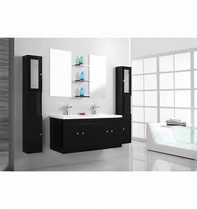 Best meuble salle de bain double vasque colonne for Salle de bain design avec ensemble salle de bain bois