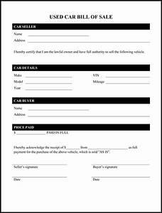 Printable Bill Of Sale Car Free Printable Documents