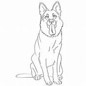 Gallery coloring pages of german shepherd dog katacomdesign