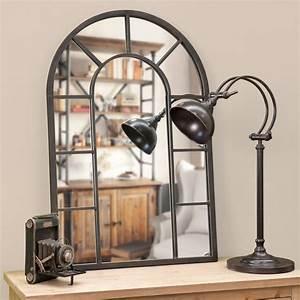 Miroir Metal Noir : miroir en m tal effet rouille h 90 cm cheverny maisons du monde ~ Teatrodelosmanantiales.com Idées de Décoration