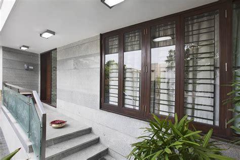 modern floor tiles design for living room award winning house at kk nagar chennai designed by
