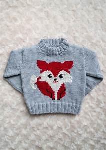 Intarsia Fox Chart Childrens Sweater Knitting pattern by ...
