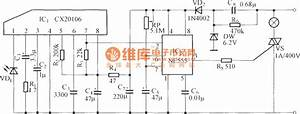 Infrared Remote Control Delay Light Switch Circuit Diagram