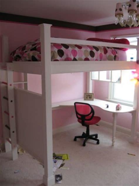 diy loft bed with desk detail free diy loft bed plans uniq plan