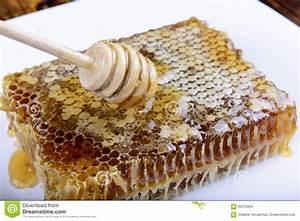 Stick For Honey On The Honeycomb Stock Photo - Image: 60310334