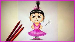 Minion Despicable Me Agnes Drawing