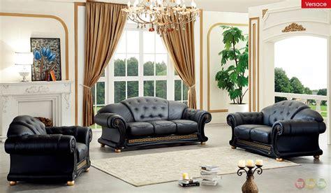 versace black genuine top grain italian leather luxurious