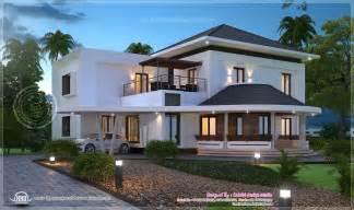 modern house plan beautiful 3200 sq ft modern villa exterior home kerala plans