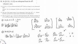 Orthonormalbasis Berechnen : orthogonal basis and orthonormal basis sample questions ~ Themetempest.com Abrechnung