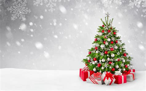 wallpaper christmas tree decoration presents gifts