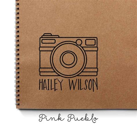 personalized custom photography rubber stamp  camera