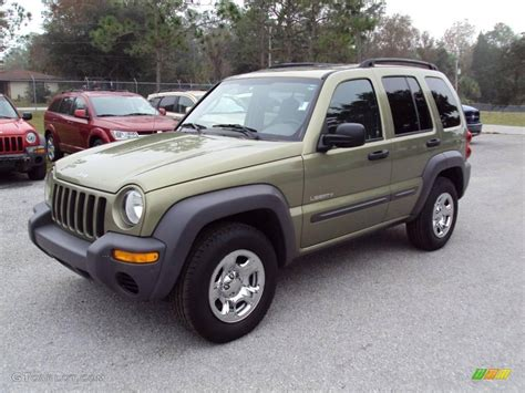 2003 green jeep liberty 2004 cactus green pearl jeep liberty sport 23461900