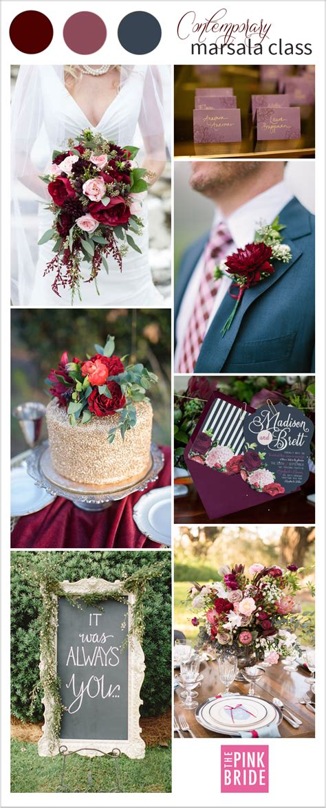 wedding color board contemporary marsala class  pink