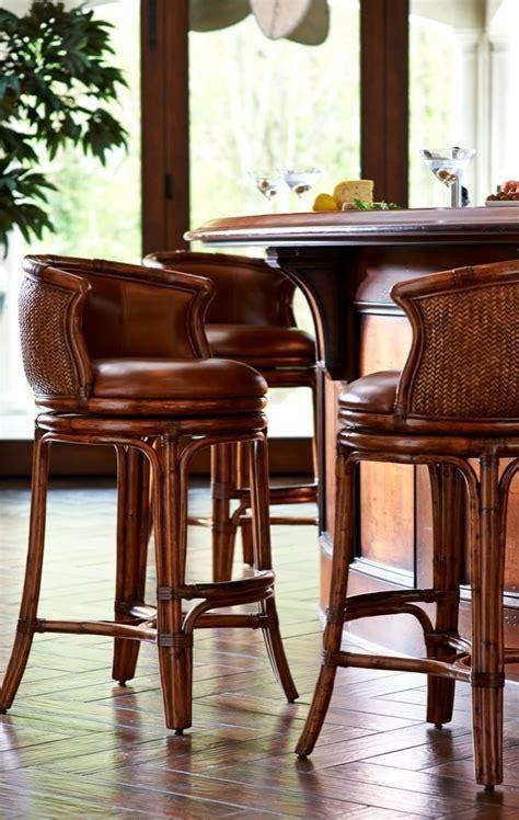 Bali Woven Swivel Bar Height Bar Stool (30 1/2   Best Bar