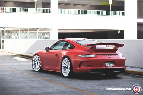 porsche matte red matte red porsche 991 gt3 on hre p200 wheels my car portal
