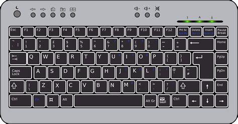 Stick Drawing-laptop Keyboard Vector