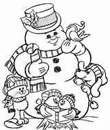 Coloring Snowman Coloringhome Printable Pdf sketch template