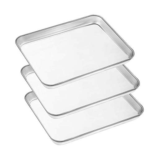 pan steel stainless baking oven clean sheet pans sheets cookie dishwasher safe toaster non toxic easy chef inch tray mirror