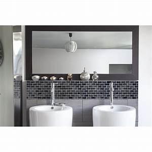 Credence Lavabo Salle De Bain : cr dence de lavabo carrelage noir rev tement lavabo black white ~ Dode.kayakingforconservation.com Idées de Décoration
