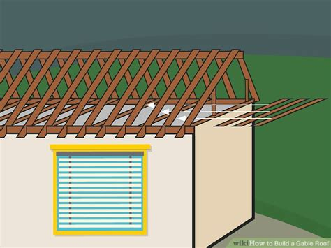 how to build a gable roof over a deck how to build a gable roof with pictures wikihow