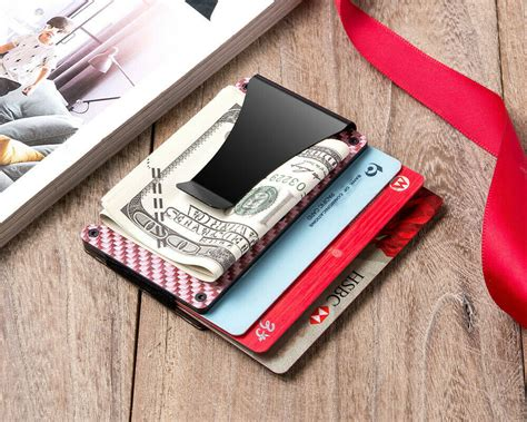With just three credit card slots, this leather front pocket wallet from bosca is ideal for the true minimalist. Slim RFID Red Carbon Fiber Wallet Front Pocket Credit Card H