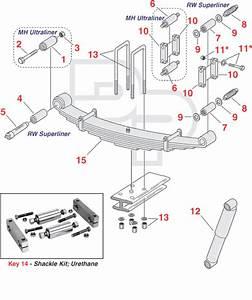 Mack  Rw Series Front Suspensions  4 U0026 39  U0026 39  Springs