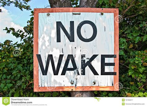 wake sign royalty tree dreamstime