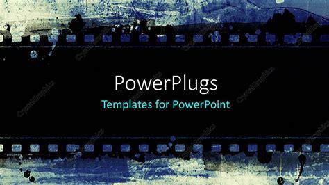 powerpoint template  strip  black film   blue