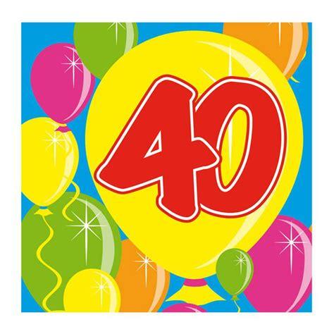 cocktail servietten quot happy birthday bunte ballons quot 40 geburtstag 20er pack g 252 nstig kaufen bei