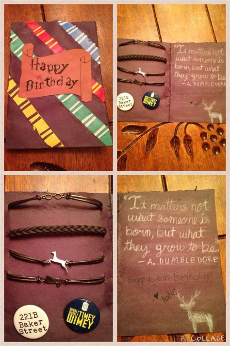 harry potter birthday card diy movies  tv shows