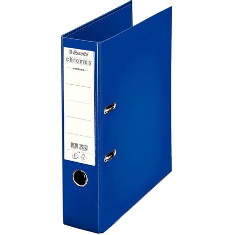 rangement archives bureau esselte classeur à levier chromos plus 80mm bleu