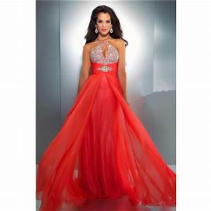 Flowing A Line Spaghetti Strap Cut Out Long Neon Coral