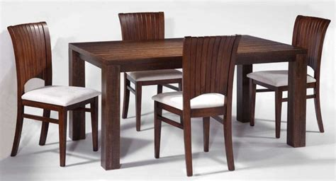 modern dining room  rectangular solid wood table set