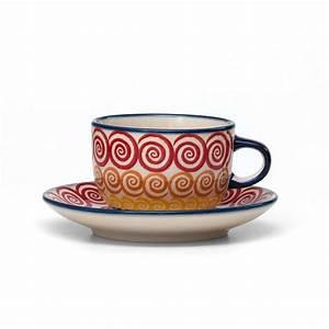 Tasse Mit Untertasse : 4h bunzlauer keramik tasse mit untertasse 200ml cmzk unikat modern ~ Sanjose-hotels-ca.com Haus und Dekorationen