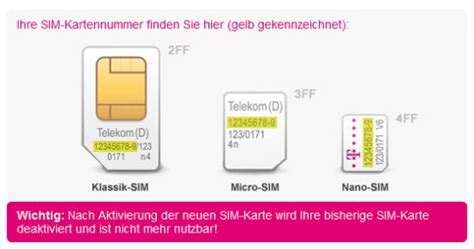 telekom  mobile iphone  nano sim karte