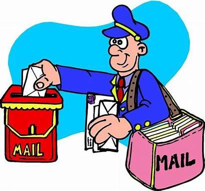Mailman Thank Clipart Postmaster Postman Clip Mail
