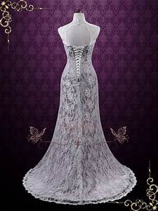 vintage purple lace wedding dress with keyhole back lucy With wedding dress with purple lace