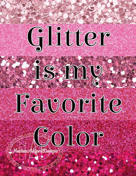 pink is my favorite color glitter is my favorite color pink edition diy digital