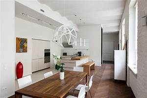 Contemporary Style in Historical Building: Old Brick Walls ...