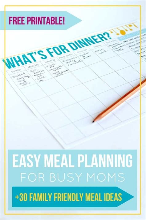 simple meal planning  busy moms    joys