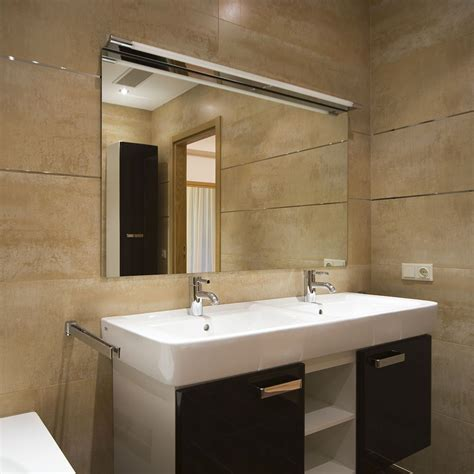 fresque murale salle de bain applique murale indo led chrome 4000k 600lm salle de bain faro